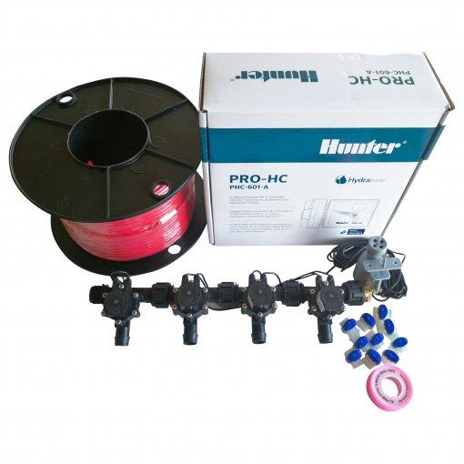 Hunter 6 Station Pro-HC WiFi Irrigation*Outdoor* 4 x 19mm Solenoids,Wire,Sensor