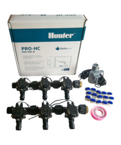 Hunter 6 Station Pro-HC WiFi Irrigation*Outdoor*6x 19mmBarb Solenoids,RainSensor
