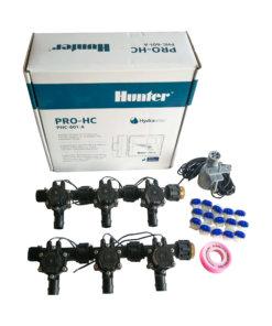 Hunter 6 Station Pro-HC WiFi Irrigation*Outdoor*6x 19mmBarb Solenoids,RainSensor