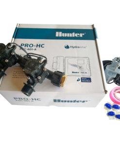 "Hunter 6 Station Pro-HC WiFi Irrigation*Outdoor*2x 3/4"" Solenoids,Free Rain Sensor"