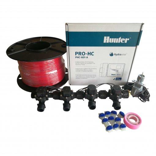 "Hunter 6 Station Pro-HC WiFi Irrigation*Outdoor* 4 x 3/4"" Solenoids,Wire,Sensor"