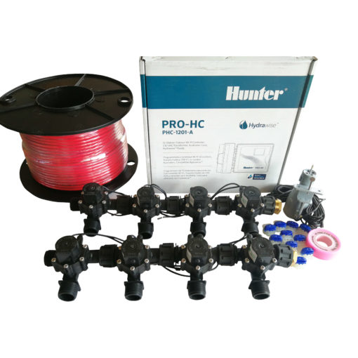 "Hunter 12 Station Pro-HC WiFi Irrigation*Outdoor* 8 x 3/4"" Solenoid,Wire,Sensor"