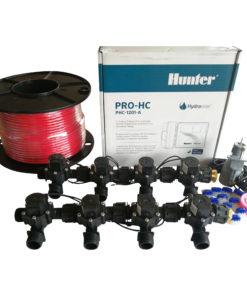 "Hunter 12 Station Pro-HC WiFi Irrigation*Outdoor* 8 x 3/4"" Solenoid,Wire,Sensor"