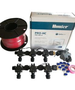 "Hunter 6 Station Pro-HC WiFi Irrigation*Outdoor* 6 x 3/4"" Solenoids,Wire,Sensor"