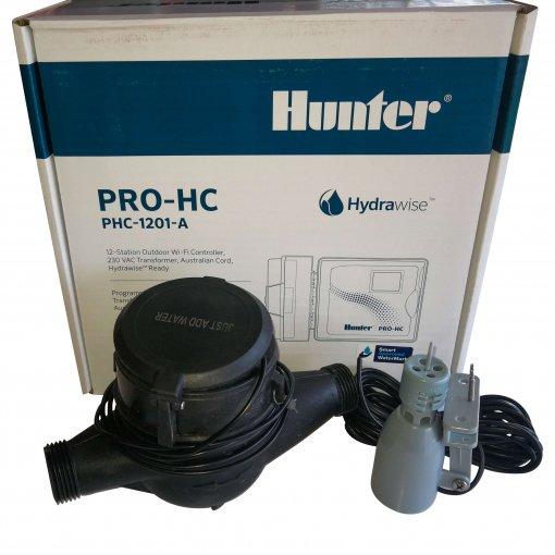 Hunter Hydrawise 12 Zone Pro-HC WiFi Irrigation Outdoor Controller,Rain & Flow Sensor
