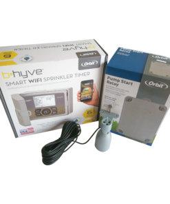 Orbit B-Hyve 6 Station WiFi Irrigation Controller & Pump Start Relay,Free Rain Sensor