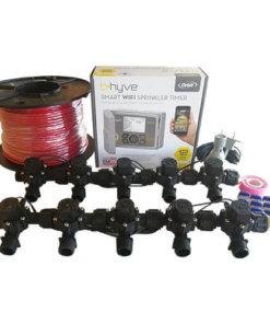 "Orbit B-hyve WiFi Controller 12 Station-10 x 3/4"" Solenoid Combo-Free Rain Sensor,Wire"