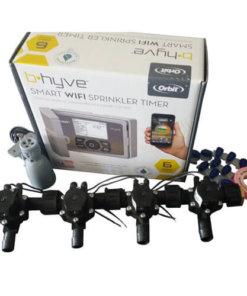 Orbit B-hyve WiFi Controller 6 Station -4 x 19mm Barb Solenoid Combo-Rain Sensor