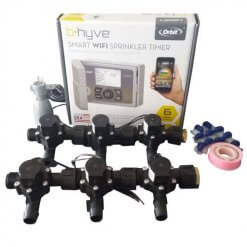 Orbit B-hyve WiFi Controller 6 Station -6 x 19mm Barb Solenoid Combo-Rain Sensor