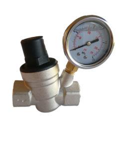 "3/4"" inch Chrome Plated Brass Adjustable Pressure Regulator(Reducer) 20mm with Gauge-DN 20"