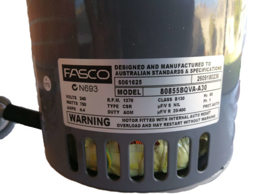 Genuine Bonaire Evap 6051675SP Fasco Motor 750W 0.75kW Part#80855BQVA-A30