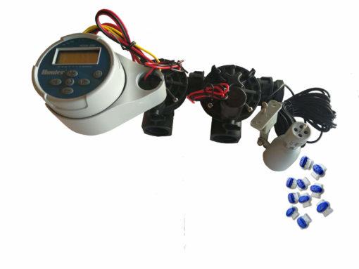 Hunter NODE 200 Kit - Solenoids,3M Connectors,Rain Sensor, 9V Battery Operated