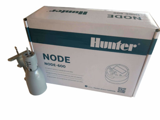 Hunter NODE 600-9V battery operated Irrigation Controller-Six Station - With Free Rain sensor