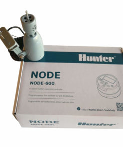 Hunter NODE 600 - 9V Battery Irrigation Controller-Six Station-Free Rain sensor