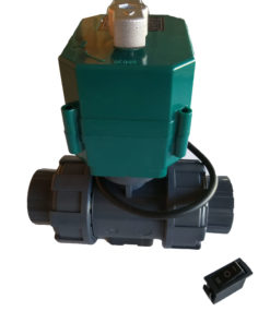 9-24VDC / 9-24V DC DN25 25mm Motorised Ball Valve with Manual Override 2-way 3-wire with switch