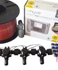 Orbit B-hyve WiFi Controller 6 Station -4 x 19mm Barb Solenoid Combo-Rain Sensor,Wire