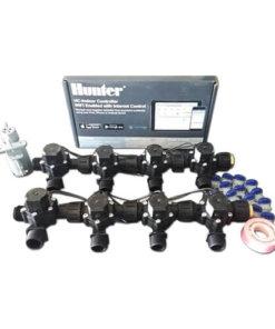 "Hunter Hydrawise 12 Station WiFi Irrigation Combo-Qty 8 x 3/4""Solenoids&Rain Sensor"