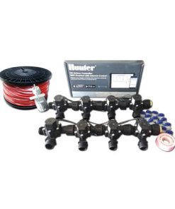 "Hunter Hydrawise 12 Station WiFi Irrigation Combo-Qty 8 x 3/4""Solenoids&Rain Sensor,Wire"