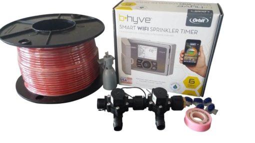 Orbit B-hyve WiFi Controller 6 Station-2 x 19mm Barb Solenoids Combo-Rain Sensor,Wire