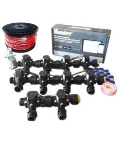 "Hunter Hydrawise 12 Station WiFi Irrigation Combo-Qty 10 x 3/4""Solenoids&Rain Sensor,Wire"