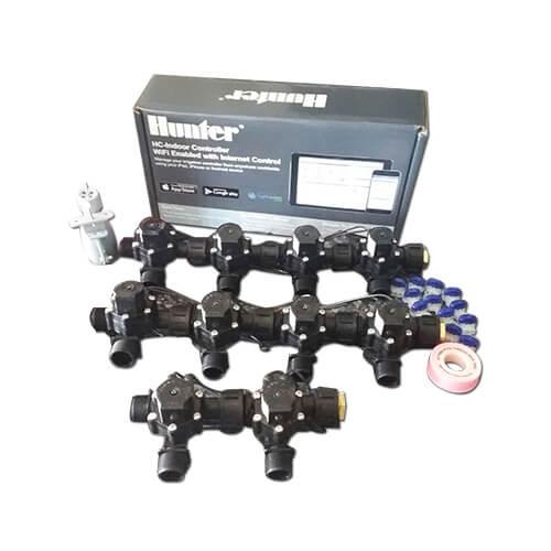 "Hunter Hydrawise 12 Station WiFi Irrigation Combo-Qty 10 x 3/4""Solenoids&Rain Sensor"