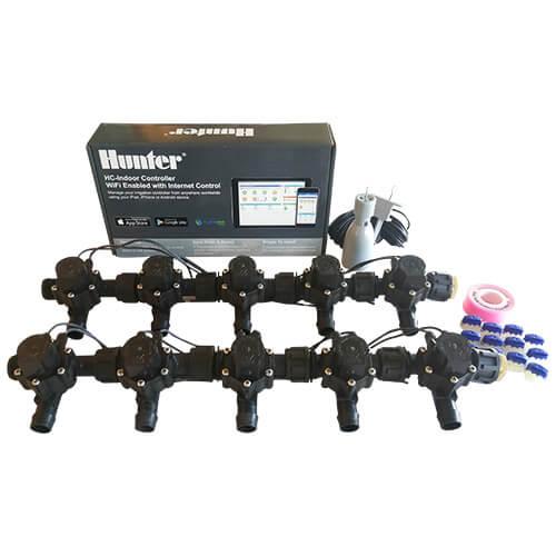Hunter Hydrawise 12 Station WiFi Irrigation Combo-Qty 10 x 19mm Barb Solenoids&Rain Sensor
