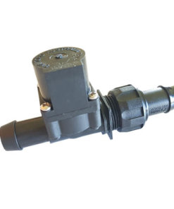 Chemical Resistant Solenoid Valve 12VDC - 19mm Barb Inlet - 19mm Straight Barb Outlet - 20LPM