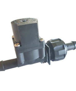 Chemical Resistant Solenoid Valve 12VDC - 13mm Barb Inlet - 13mm Barb Outlet - 20LPM