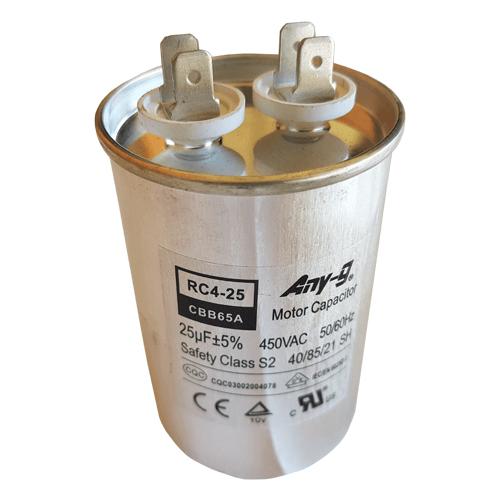 25uF (25MFD) Capacitor 450VAC