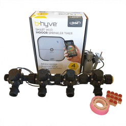 "Orbit B-hyve WiFi Controller 4 Station-4x 3/4"" inch Manifold Solenoid Valves Combo -FreeSensor"