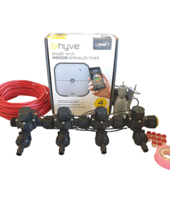 Orbit B-hyve WiFi Controller 4 Station-4x 13mm Barb Manifold Solenoid Valves & Wire Combo -FreeSensor