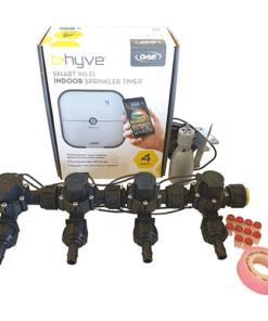 Orbit B-hyve WiFi Controller 4 Station-4x 13mm Barb Manifold Solenoid Valves Combo -FreeSensor