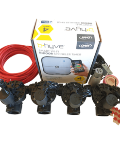 "Orbit B-hyve WiFi Controller 4 Station-4x 1"" inch 25mm Manifold Solenoid Valves & Wire Combo -FreeSensor"