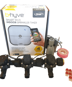 Orbit B-hyve WiFi Controller 4 Station-3x 19mm Barb Manifold Solenoid Valves Combo -FreeSensor