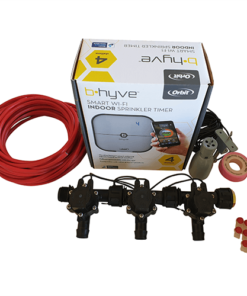 Orbit B-hyve WiFi Controller 4 Station-3x 19mm Barb Manifold Solenoid Valves & Wire Combo -FreeSensor