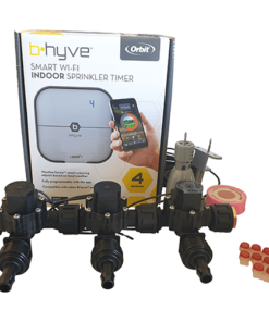 Orbit B-hyve WiFi Controller 4 Station-3x 13mm Barb Manifold Solenoid Valves Combo -FreeSensor