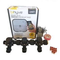 "Orbit B-hyve WiFi Controller 4 Station-3x 3/4"" inch Manifold Solenoid Valves Combo -FreeSensor"