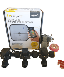 "Orbit B-hyve WiFi Controller 4 Station-3x 3/4"" inch Manifold Solenoid Valves Combo -FreeSensor"
