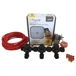 """Orbit B-hyve WiFi Controller 4 Station-3x 3/4"""" inch Manifold Solenoid Valves & Wire Combo -FreeSensor"""