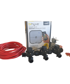"Orbit B-hyve WiFi Controller 4 Station-3x 3/4"" inch Manifold Solenoid Valves & Wire Combo -FreeSensor"