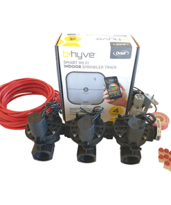 "Orbit B-hyve WiFi Controller 4 Station-3x 1"" inch 25mm Manifold Solenoid Valves & Wire Combo -FreeSensor"