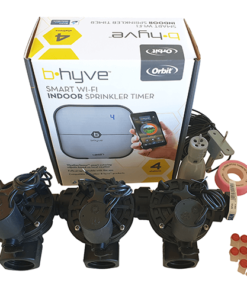 "Orbit B-hyve WiFi Controller 4 Station-3x 1"" inch 25mm Manifold Solenoid Valves Combo -FreeSensor"