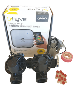 "Orbit B-hyve WiFi Controller 4 Station-2x 1"" inch 25mm Manifold Solenoid Valves Combo -FreeSensor"