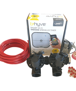 "Orbit B-hyve WiFi Controller 4 Station-2x 1"" inch 25mm Manifold Solenoid Valves & Wire Combo -FreeSensor"