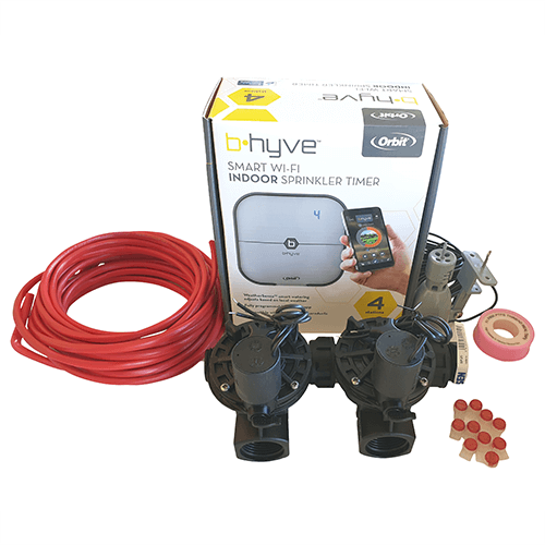 """Orbit B-hyve WiFi Controller 4 Station-2x 1"""" inch 25mm Manifold Solenoid Valves & Wire Combo -FreeSensor"""
