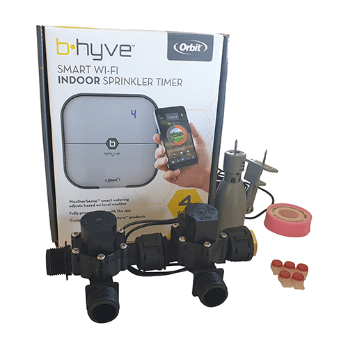 "Orbit B-hyve WiFi Controller 4 Station-2x 3/4"" inch Manifold Solenoid Valves Combo -FreeSensor"