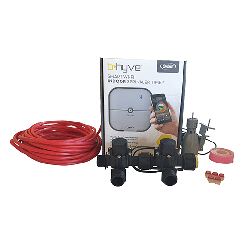 """Orbit B-hyve WiFi Controller 4 Station-2x 3/4"""" inch Manifold Solenoid Valves & Wire Combo -FreeSensor"""