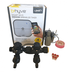 Orbit B-hyve WiFi Controller 4 Station-2x 13mm Barb Manifold Solenoid Valves Combo -FreeSensor