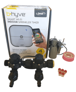 Orbit B-hyve WiFi Controller 4 Station-2x 13mm Barb Manifold Solenoid Valves Combo -FreeSensor
