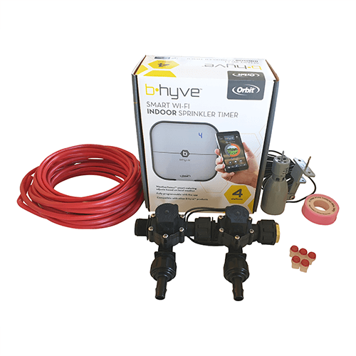 Orbit B-hyve WiFi Controller 4 Station-2x 13mm Barb Manifold Solenoid Valves & Wire Combo